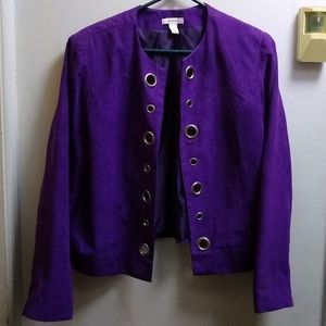 """Dressbarn"" Purple Jacket; Size L"